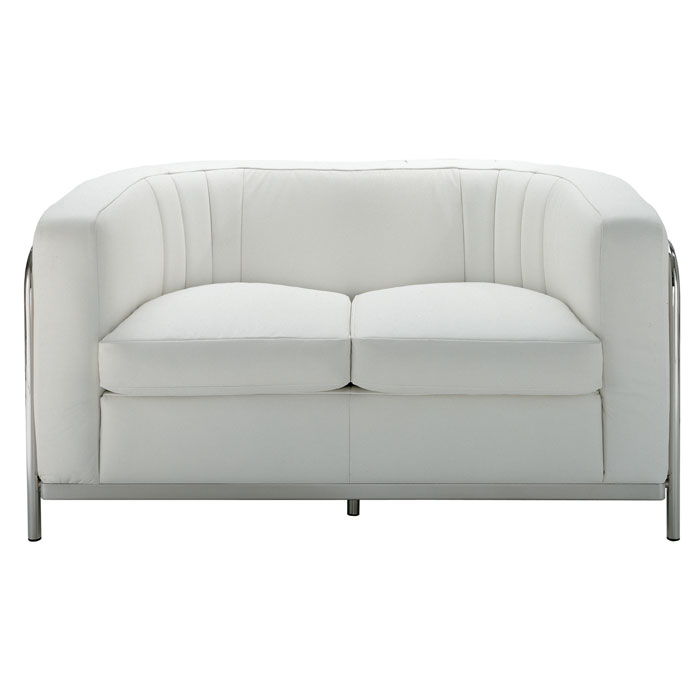 Zanotta Onda Two Seat Leather Sofa