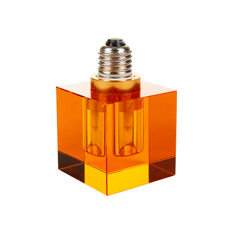 Seletti Crystaled Light Bulb Amber Square