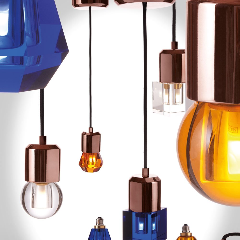 Seletti - Crystaled Lightbulb - Amber Round