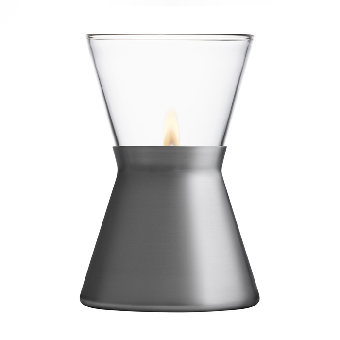 Iittala - Glow Oil Lamp - Metal Grey
