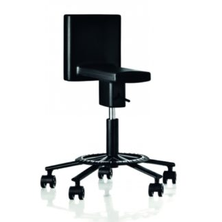 Magis 360° Adjustable Swivel Chair w Wheels Black