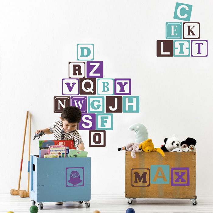 Ferm Living Kids - Baby Blocks Wall Sticker B/T/V