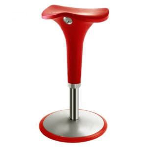 ... Rexite   Zanzi Swing Bar Stool With Gas Lift Adjustable Height   Red