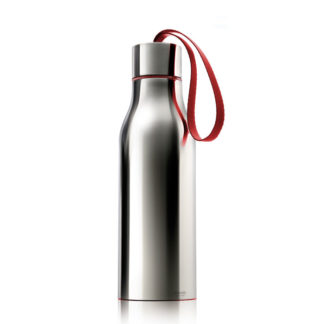 Eva Solo Thermo Water Flask Polished Steel Red