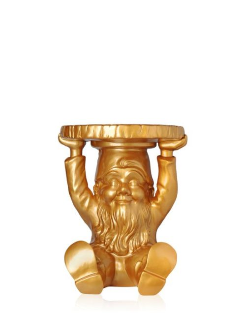 Kartell Philippe Starck Attila Gnome Stool Table Gold