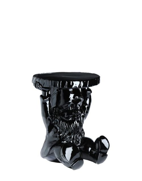 Kartell Philippe Starck Attila Gnome Stool Table Black