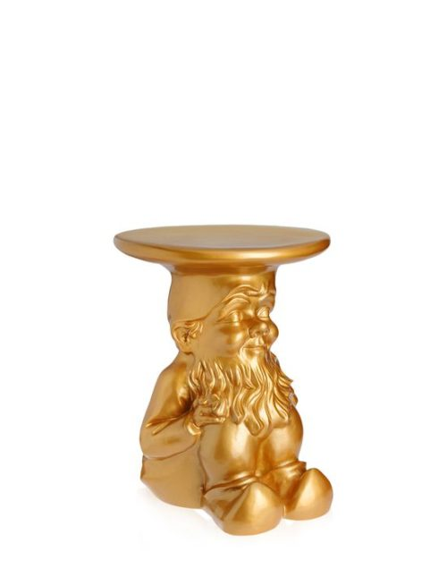 Kartell Philippe Starck Napoleon Gnome Stool Table Gold