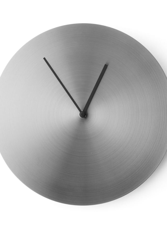 Menu - Norm Wall Clock Brushed Stainless Steel