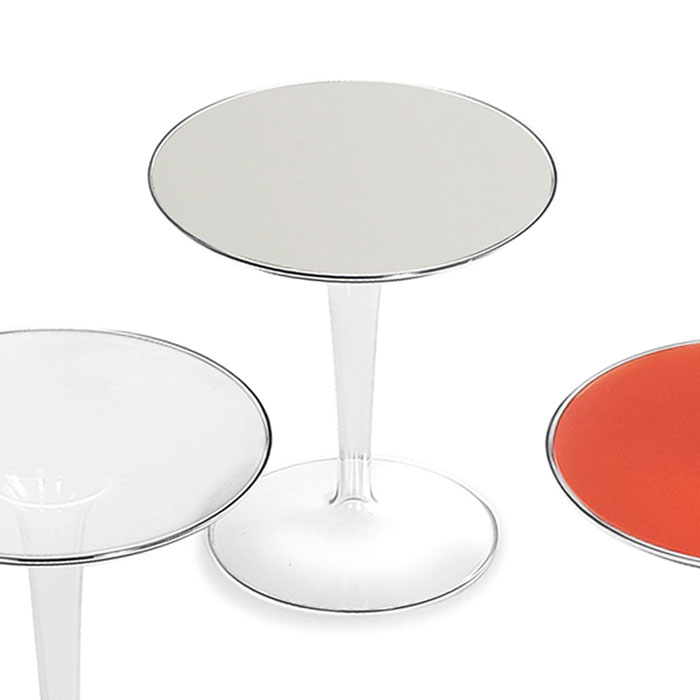 Kartell - Tip Top Side Table - Glossy White | Panik Design