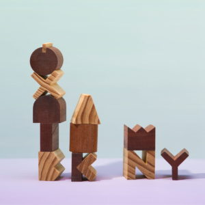 Areaware - Alphabet Wooden Blocks