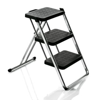 Magis Nuovastep Folding Step Ladder Black & Chrome