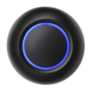 Spore Black Doorbell Button True Illuminated Blue