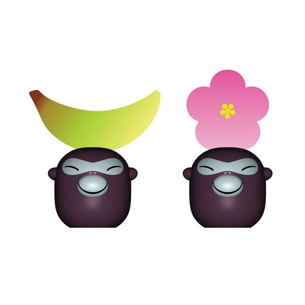 Alessi - Banana Babies Place Markers (Set 2)