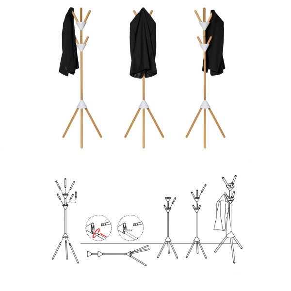 Alessi - Pierrot Coat Stand White