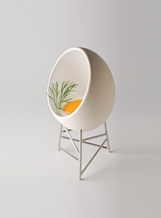 Alessi Le Nid Ramequin Serving Eggs
