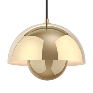 &Tradition - FlowerPot Pendant Lamp Polished Brass 1968