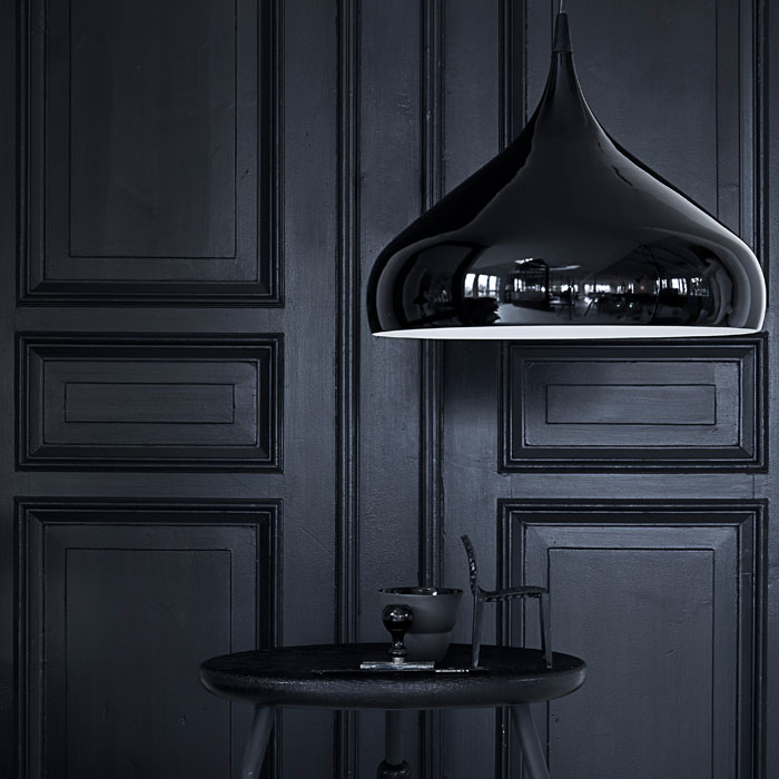 &Tradition - Black Spinning Pendant Light BH2