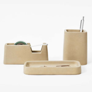 Areaware - Concrete Desk Set Sand