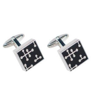 ACME Studio - Charles and Ray Eames - Dots Black Cufflinks