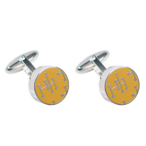 ACME Studio - Charles and Ray Eames - Dots Yellow Cufflinks