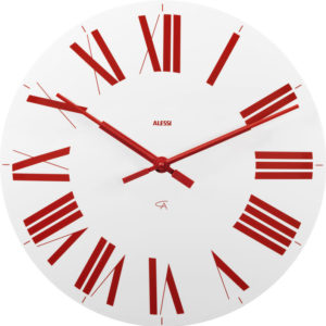 Alessi - Firenze Wall Clock White Red 1965