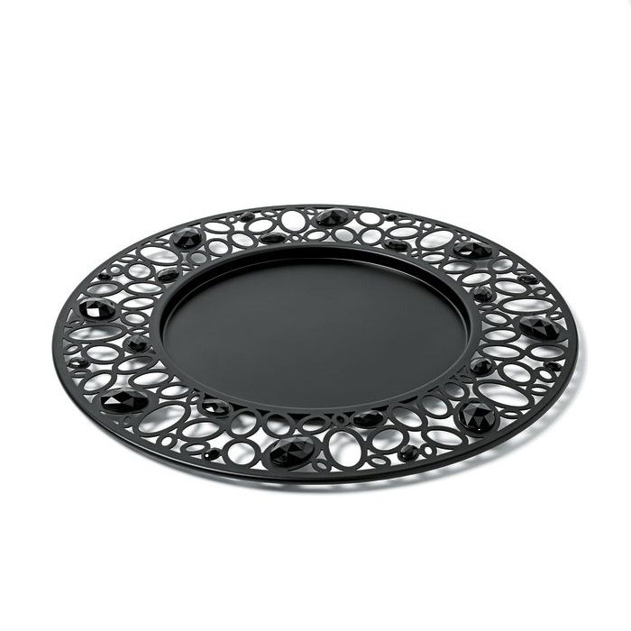 A di Alessi - Ba-Ball Black Round Tray