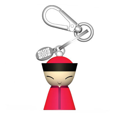 A di Alessi - Mr Chin Red Keyring