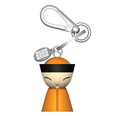 A di Alessi - Mr Chin Yellow Keyring