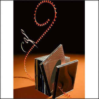 """Alessi - Ron Arad - """"The Soundtrack"""" Cd Rack - Red"""