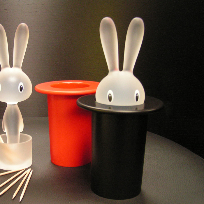 Alessi Magic Bunny Toothpick Holder Black Ltd Ed