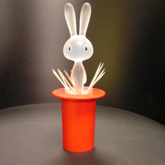 Alessi Magic Bunny Toothpick Holder Red Ltd Ed