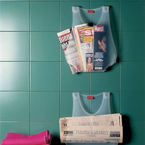 Marcel Bathroom Wall Magazine Rack