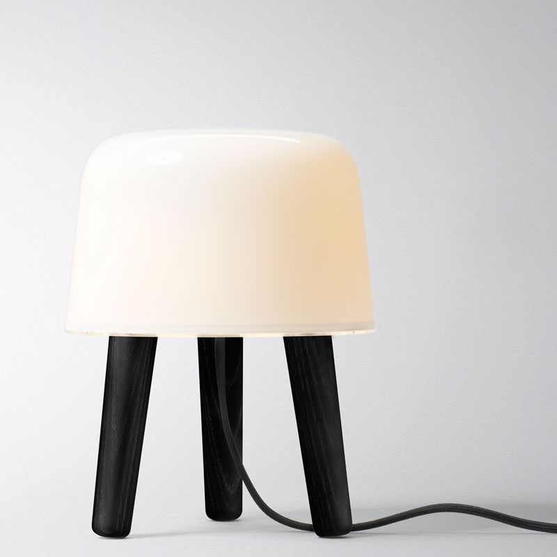 &Tradition - Milk Table Light Black Stained Legs and Cord