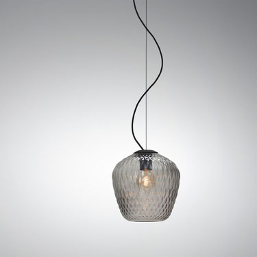 &Tradition - Blown Glass SW3 Silver Suspension Light
