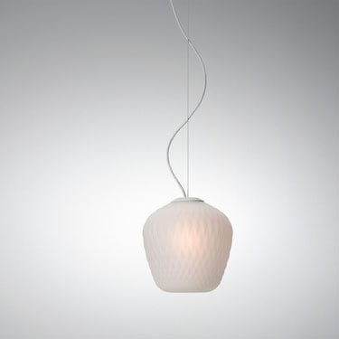 &Tradition - Blown Glass SW3 Blasted White Suspension Light