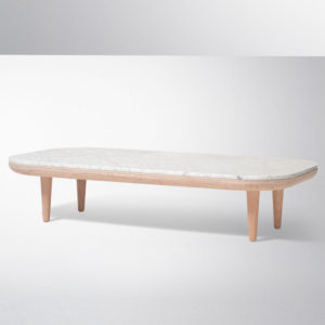 &Tradition - FLY Lounge SC5 Bianco Carrara Marble Table White Oiled Oak