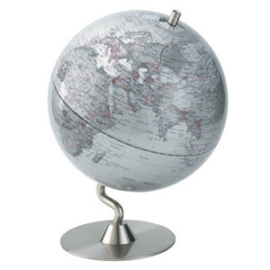 Authentics - Large Globe Silver