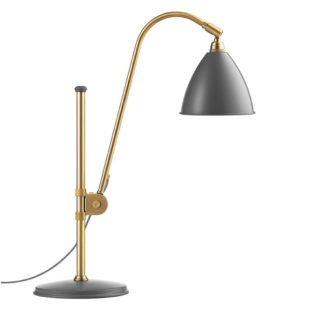 Bestlite BL1 Table Light Matt Grey w Brass 1930