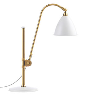 Bestlite BL1 Table Light Matt White w Brass 1930