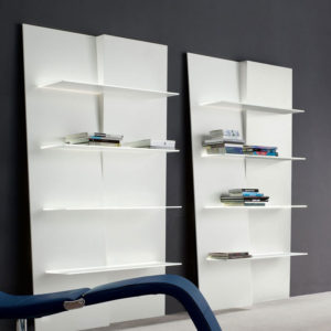 Bonaldo - Up and Down Wall Bookshelf with LED Light Source White