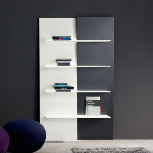 Bonaldo - Up and Down Wall Bookshelf with LED Light Source White and Grey