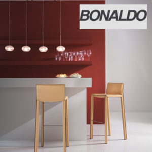 Bonaldo - Mirtillo Leather Bar Stool