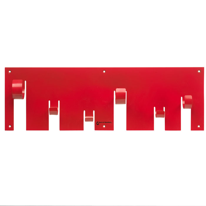 Born in Sweden Coat Rack Red