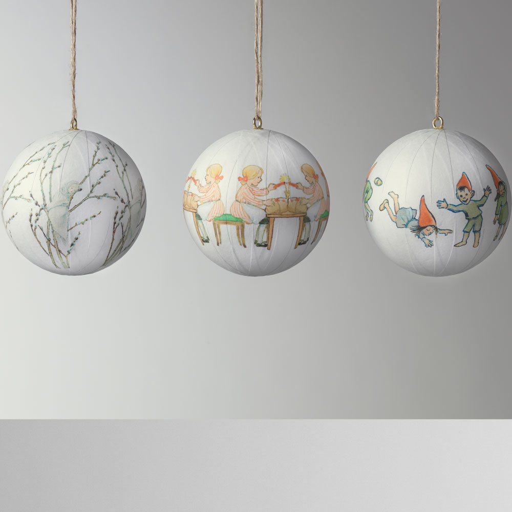 Design House Stockholm - Elsa Beskow Christmas Tree Ornaments Set 2 - 3pcs Set