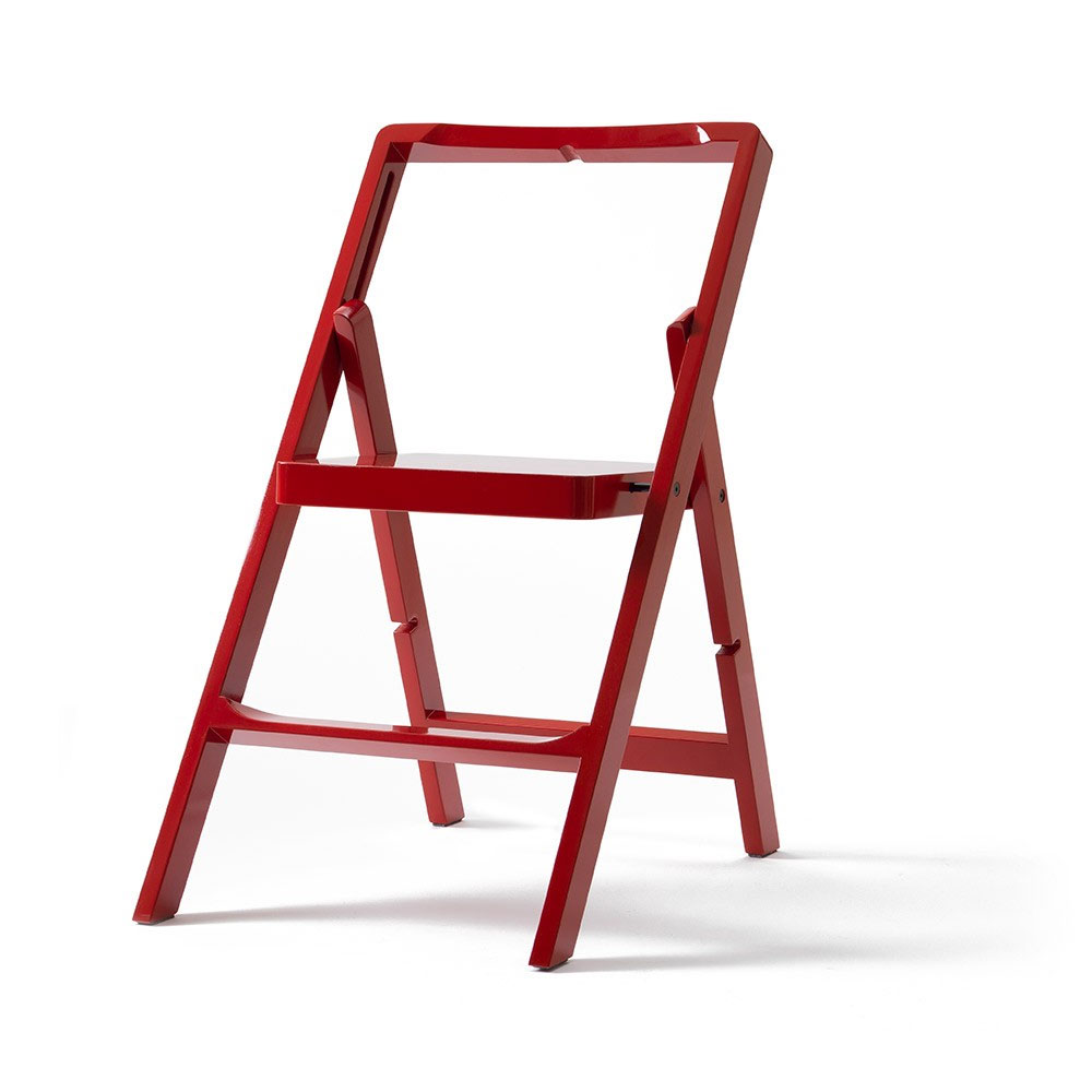 Design House Stockholm   Step Mini Folding Chair Step Ladder Red
