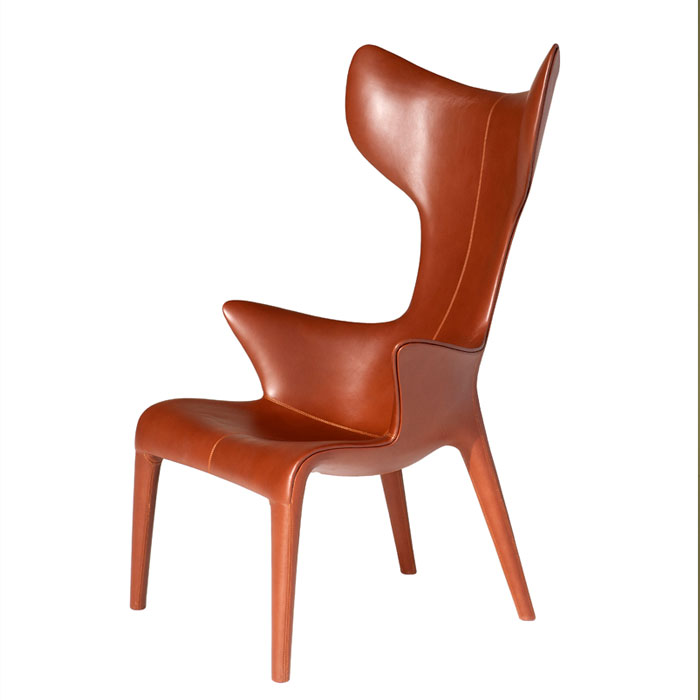 Driade Philippe Starck Lou Read Leather Armchair