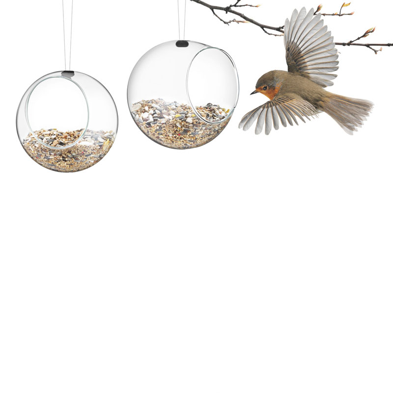 Eva Solo Tools Mini Glass Bird Feeders 2pcs