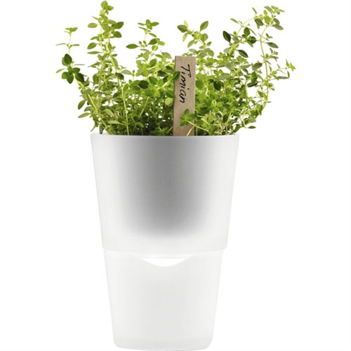 Eva Solo - Tools - Self Watering Flowerpot Frosted Glass 11cm