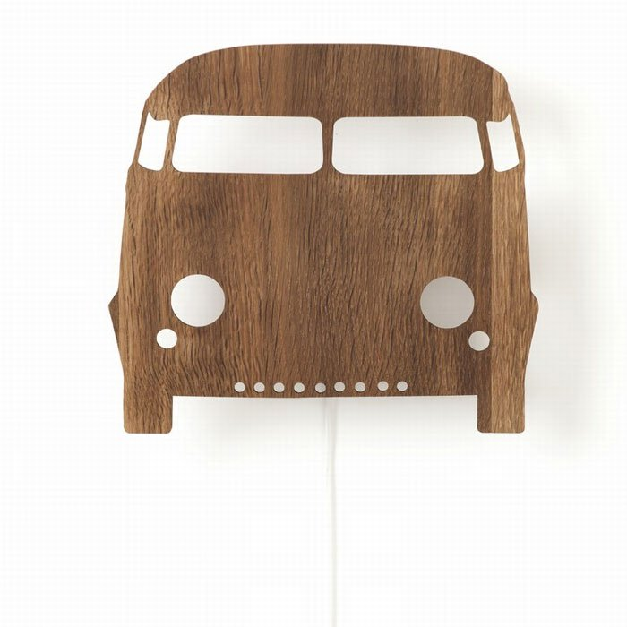 Ferm Living Kids - Car Wall Lamp - Smoked Oak
