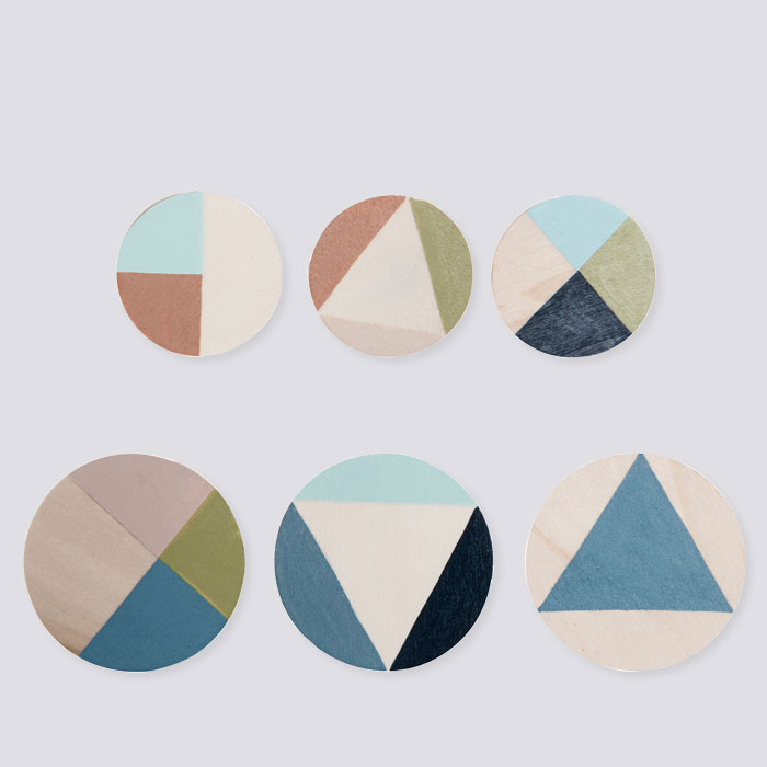 Ferm Living - Painted Wooden Clips 6 Pcs Set